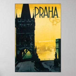 Vintage Prague Praha Travel Posters