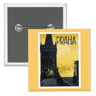 Vintage Praha Pinback Button