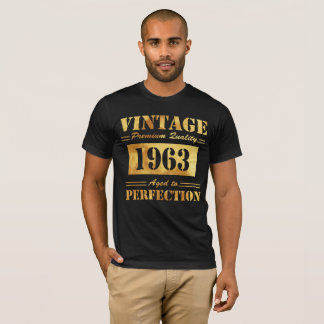 Vintage Premium Quality 1963 Aged To Perfection T-Shirt