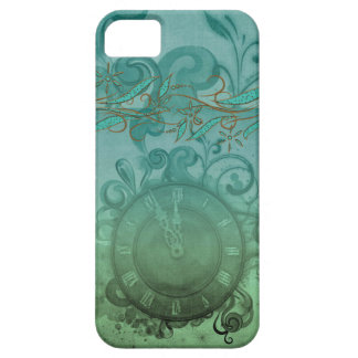 vintage pretty steampunk time clock and swirls iPhone 5 cover