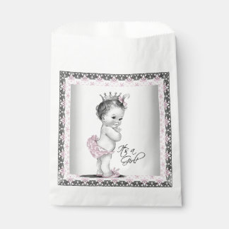 Vintage Princess Baby Shower Favour Bag