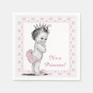 Vintage Princess Baby Shower Paper Napkin
