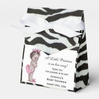 Vintage Princess Baby Shower Zebra Pattern Favor Boxes