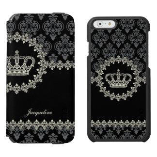 Vintage Princess Damask Crown Incipio Watson™ iPhone 6 Wallet Case