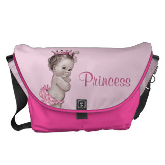 Vintage Princess Pink Baby Diaper Bag Commuter Bags