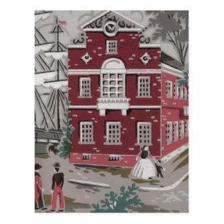 Vintage Print Boston Postcard