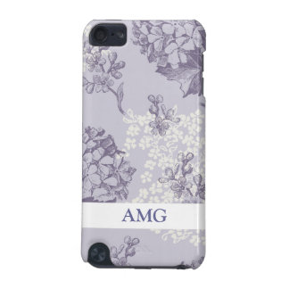Vintage Printed Lilacs in Purple and White iPod Touch (5th Generation) Case