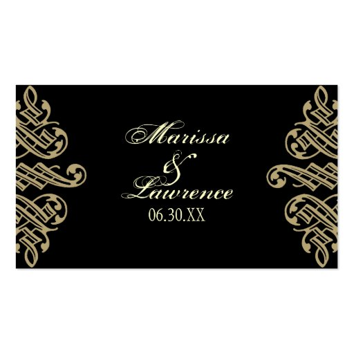 Vintage Printers Ornament Table Seating Cards Business Card Template