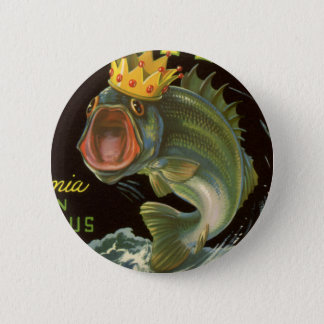 Vintage Product Can Label Art, Kingfish Asparagus 6 Cm Round Badge