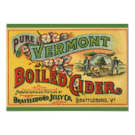 Vintage Product Label Art Brattleboro Boiled Cider Invites