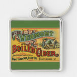 Vintage Product Label Art Brattleboro Boiled Cider Key Chain