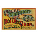 Vintage Product Label Art Brattleboro Boiled Cider Posters