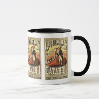 Vintage Product Label Art, Crumb's Pocket Inhaler Mug