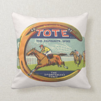 Vintage Product Label Art, Tote Sportsman's Tonic Cushion