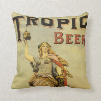 Vintage Product Label Art, Tropic Beer Gladiator Cushion