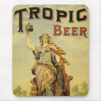Vintage Product Label Art, Tropic Beer Gladiator Mouse Pad
