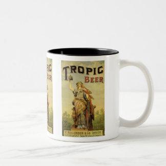 Vintage Product Label Art, Tropic Beer Two-Tone Mug