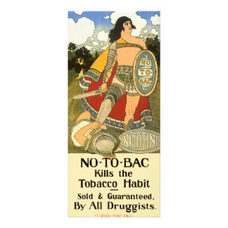 Vintage Product Label No To Bac Rack Card