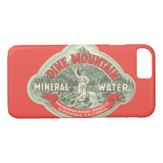 Vintage Product Label, Pine Mountain Mineral Water iPhone 8/7 Case