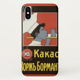 Vintage Product Label, Russian Hot Chocolate Kakao iPhone X Case