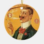 Vintage Product Label; Russian Tobacco Cigarettes Ornament