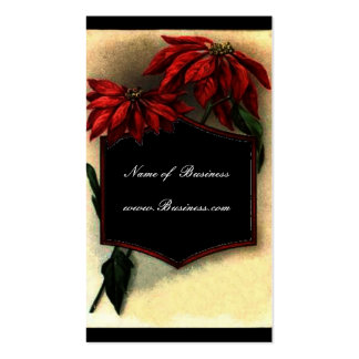 Vintage Profile Card Poinsettias Pack Of Standard Business Cards
