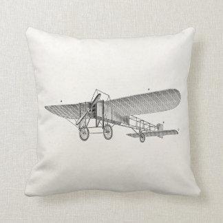Vintage Propeller Airplane Retro Old Prop Plane Cushion