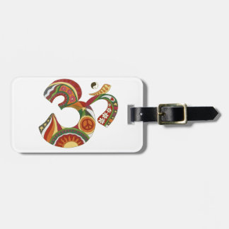 Vintage Psychedelic Fat Om Luggage Tag
