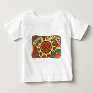 Vintage Psychedelic Flaming Peace Baby T-Shirt