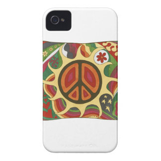 Vintage Psychedelic Flaming Peace Case-Mate iPhone 4 Case