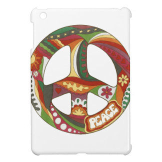 Vintage Psychedelic Peace Symbol iPad Mini Covers