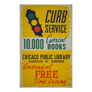 Vintage Public Library Poster