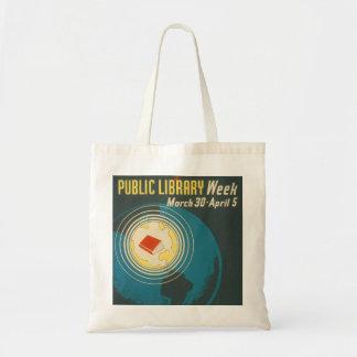 """Vintage """"Public Library Week"""" Tote"""