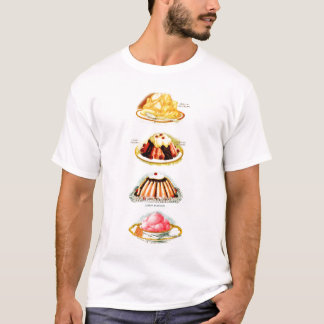 Vintage Pudding Jello Deserts Kitsch Illustration T-Shirt