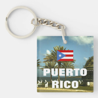 Vintage Puerto Rico Photography Key Ring