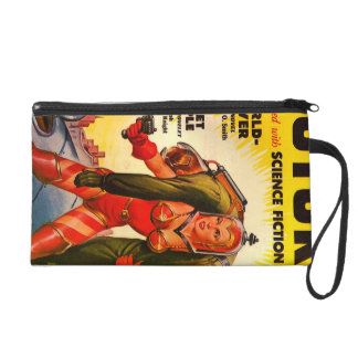 Vintage Pulp Paperback Sci-Fi Girl Hero Cover Wristlet Clutches