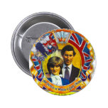 Vintage Punk  80'sroyal wedding Charles and Di Pins