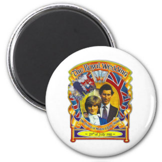 Vintage Punk  80'sroyal wedding Charles and Di 6 Cm Round Magnet