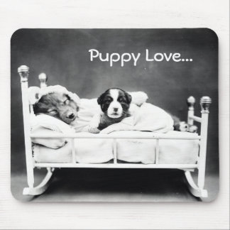 Vintage Puppy Love Mouse Pad