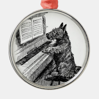 """Vintage """"Puppy Playing the Piano"""" Ornament"""