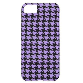 Vintage purple and black houndstooth iPhone 5C case