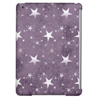 vintage purple background shining silver stars