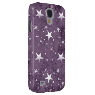 vintage purple background with silver stars samsung galaxy s4 case