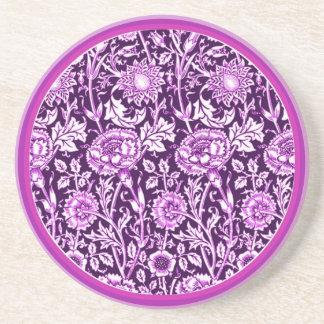 Vintage Purple Carnations Coaster