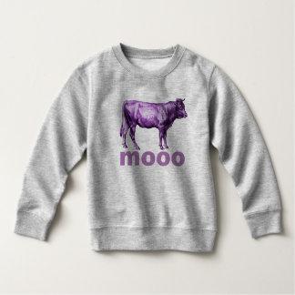 Vintage Purple Cow Illustration Moo Shirt