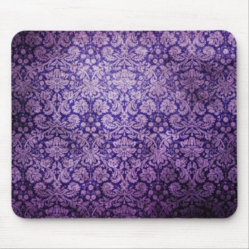 Vintage  Purple Floral  Damask Mousepad