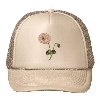 Vintage Purple Flower Ilustration Trucker Hats
