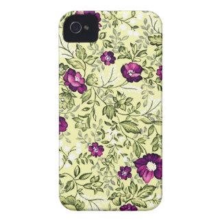 Vintage Purple Flowers Case-Mate iPhone 4 Case