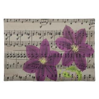 Vintage purple flowers placemat