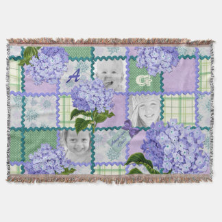 Vintage Purple Hydrangea Instagram Photo Quilt